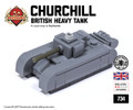 Micro Brick Battle - Churchill Tank