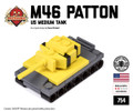 Micro Brick Battle - M46 Patton Tank