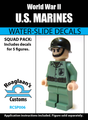 World War II US Marines Squad Pack - Water-Slide Decals