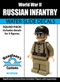 World War II Russian Infantry Squad Pack - Water-Slide Decals
