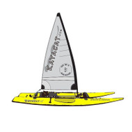 Kayacat Couger Yellow hull with grey sail