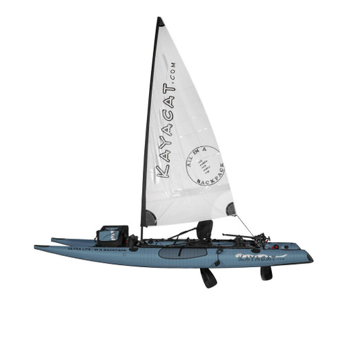 Kayacat Cougar Grey with White Sail