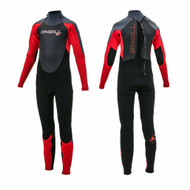 O'neill Boys Epic 5 4mm Kids Wetsuit Red Black