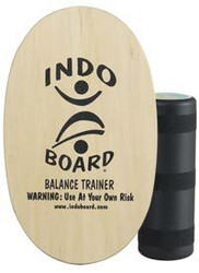 Original Indo Board with Medium Roller (Natural Wood Colour)