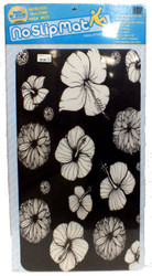 Versa Traction No Slip Mat 25x16 inch - Hibiscus design
