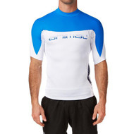 Animal Aeon Short Sleeve Electric Blue Rash Vest XLarge