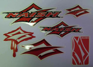 Naish red diamond sticker pack