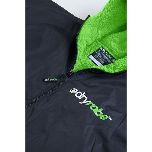 Dryrobe Large Long Sleeve Black Green