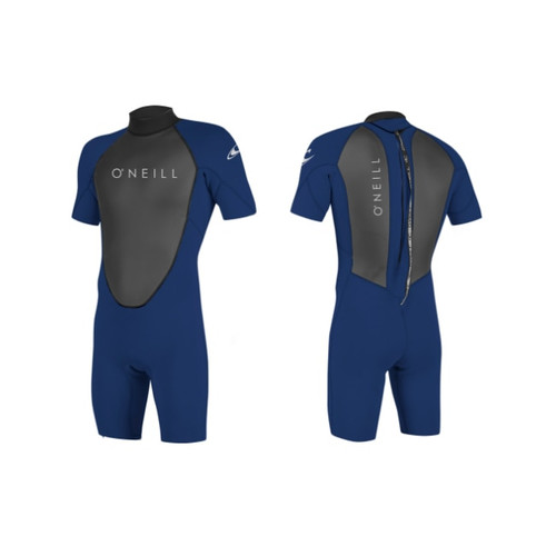 O'neill 2018 Reactor2 2/2mm Back Zip Shorty Wetsuit Navy