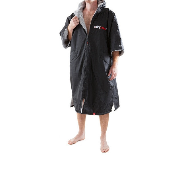 70a5edcc40 Dryrobe Advance Adult Size Black Grey Short Sleeve - 24-7 Boardsports