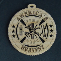 America's Bravest Fire Department Ornament