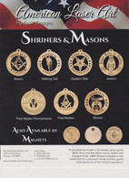 Shriners & Masons Laser Ornaments