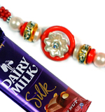 Send Rakhi Online To India Abroad Within USA Shipping America Fancy Rakhi With Chocolate