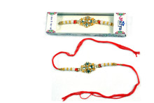 Glittering Pearl Rakhi Rakhi To India,USA America Buy Online Store-Free Shipping,Cheap Rates,Fast Delivery