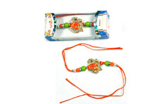 Lord Ganesh with OM Rakhi To India,USA America Buy Online Store-Free Shipping,Cheap Rates,Fast Delivery
