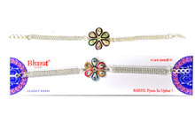 Auspicious Silver PlatedRakhi Rakhi To India,USA America Buy Online Store-Free Shipping,Cheap Rates,Fast Delivery