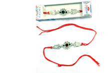 Silver Rakhi in Flower Shape Rakhi To India,USA America Buy Online Store-Free Shipping,Cheap Rates,Fast Delivery