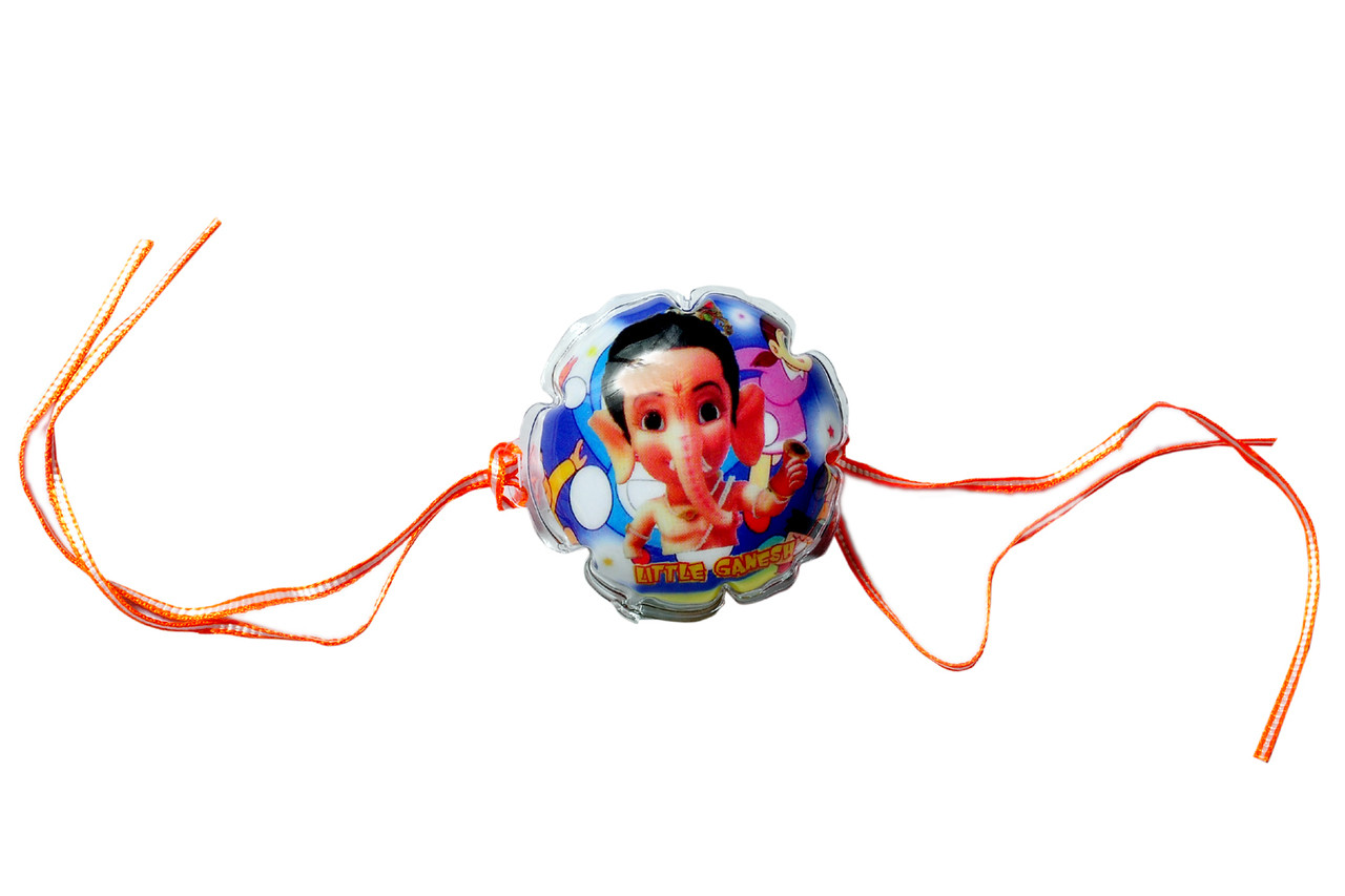 Send this perfect rakhi bal ganesh lighting rakhi online to anywhere in indiausa america or within india usa abroad country we are offering free shipping