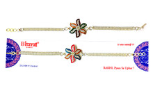 Colorful Glare Silver Plated Rakhi Rakhi To India,USA America Buy Online Store-Free Shipping,Cheap Rates,Fast Delivery