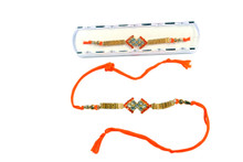 Beautiful Designer Stone Rakhi Rakhi To India,USA America Buy Online Store-Free Shipping,Cheap Rates,Fast Delivery