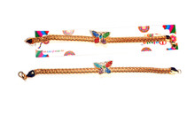 Gold Plated Butterfly Bracelet Rakhi Rakhi To India,USA America Buy Online Store-Free Shipping,Cheap Rates,Fast Delivery