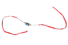 Glittering Blue Rakhi Thread Rakhi To India,USA America Buy Online Store-Free Shipping,Cheap Rates,Fast Delivery