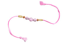 Classy Pink Rakhi Thread Rakhi To India,USA America Buy Online Store-Free Shipping,Cheap Rates,Fast Delivery