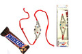 Silver Rakhi With Snickers