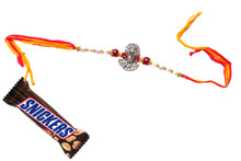 Lord Hanuman Rakhi With Snickers Rakhi To India,USA America Buy Online Store-Free Shipping,Cheap Rates,Fast Delivery