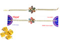 Silver Plated Rakhi With Sweets
