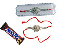 Diamond Rakhi With Chocolate Rakhi To India,USA America Buy Online Store-Free Shipping,Cheap Rates,Fast Delivery