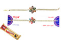 Silver Plated Rakhi With 5 Star