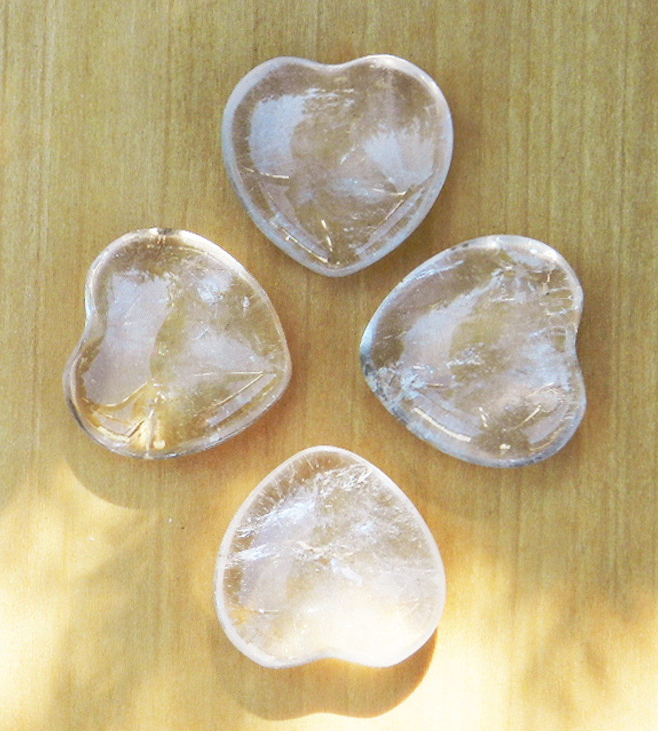 Crystal Quartz Heart . Ultimate Power Stone