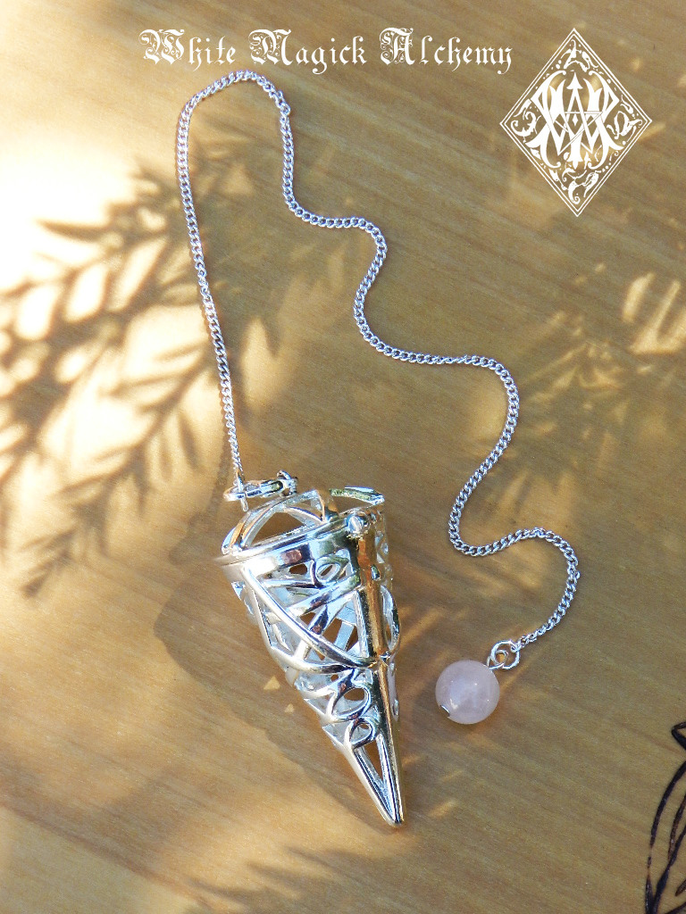 Seven Stone Pendulum Necklace Set with Changeable Gemstones . Reiki, Chakra, Divination