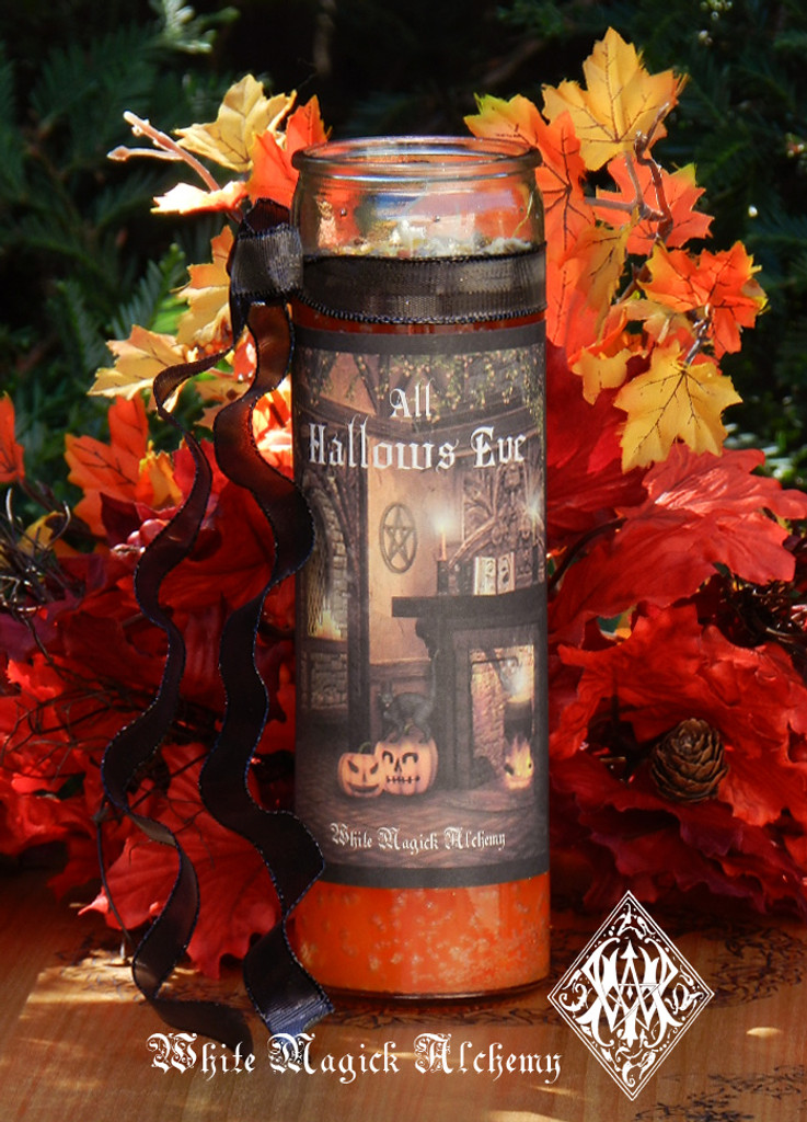 All Hallows Eve Glass Vigil Candle . Samhain, Halloween, Ancestral Workings, New Beginnings, Witches New Year