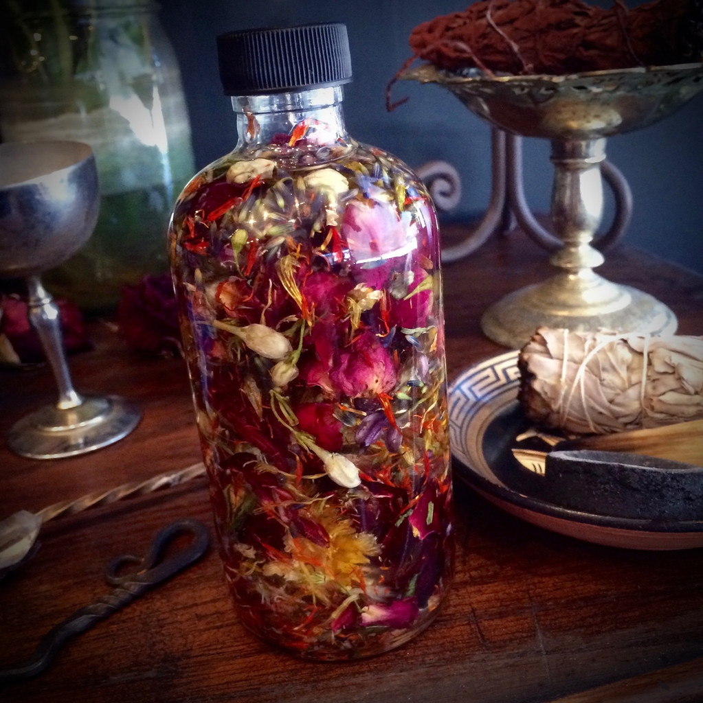 Custom Magic Potion Oil Blend Uniquely Blended for You with Alchemical Herbs, Crystals, Essential Oils