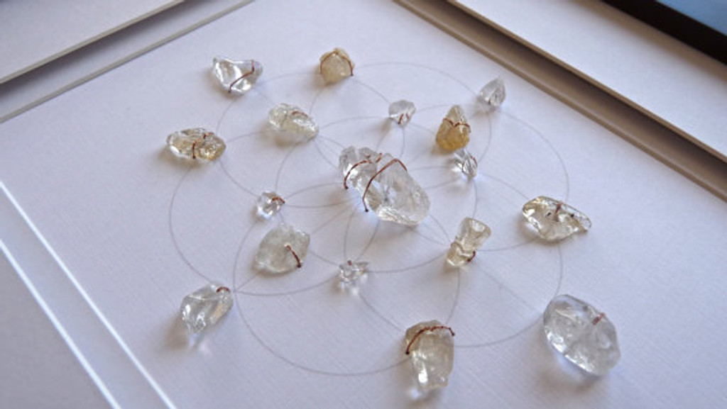 how to make a crystal grid for money
