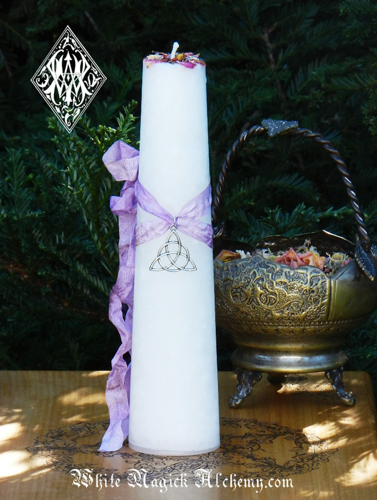 Goddess Candles Triquetra Trinity