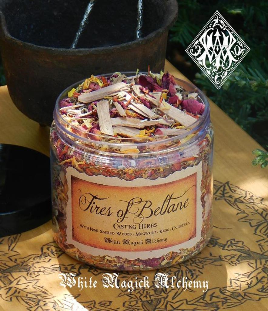 Fires of Beltane Sacred Smudge & Bonfire Casting Herbs