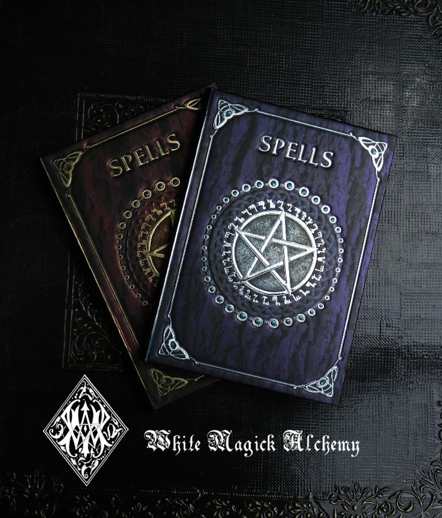 Spell Book . Book of Spells Old World Midnight Amethyst 5x7