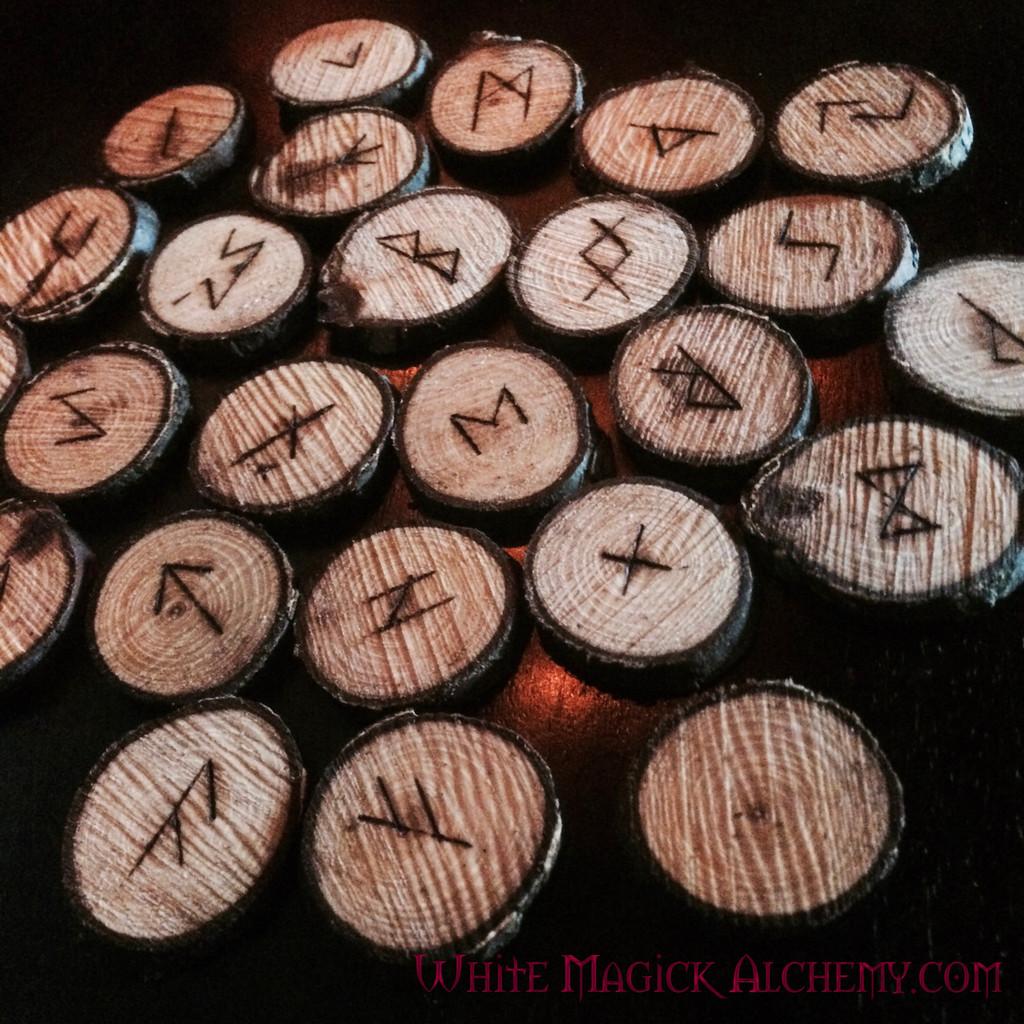 Elder Futhark Viking Rune Set in Elder Wood