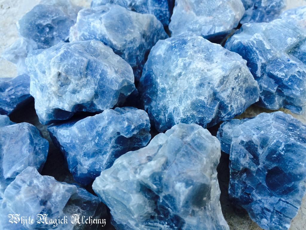 Blue Calcite Gemstones Natural Raw Jumbo