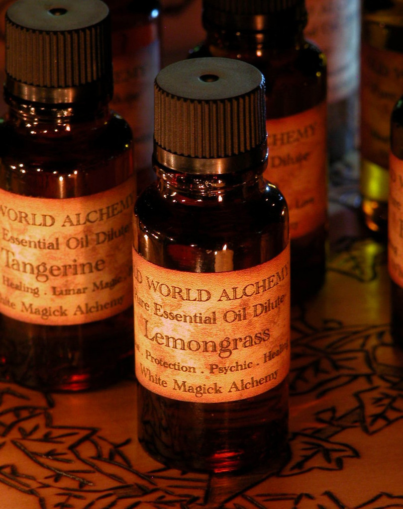 Tangerine Essential Oil . White Magick Alchemy Pure Essential Dilute . Relaxing, Healing, Lunar Magick, Peace