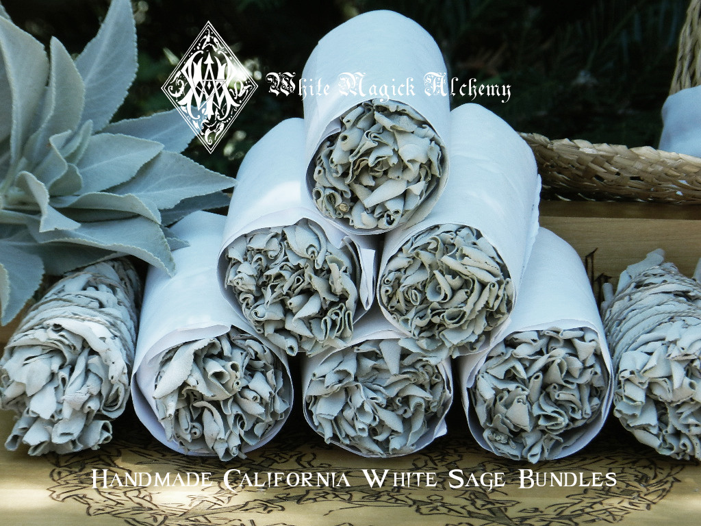 "White Sage Smudge Wand 5"" for Cleansing and Clearing the Home of Negativity, Spiritual Cleansing, Banishing, Protection"