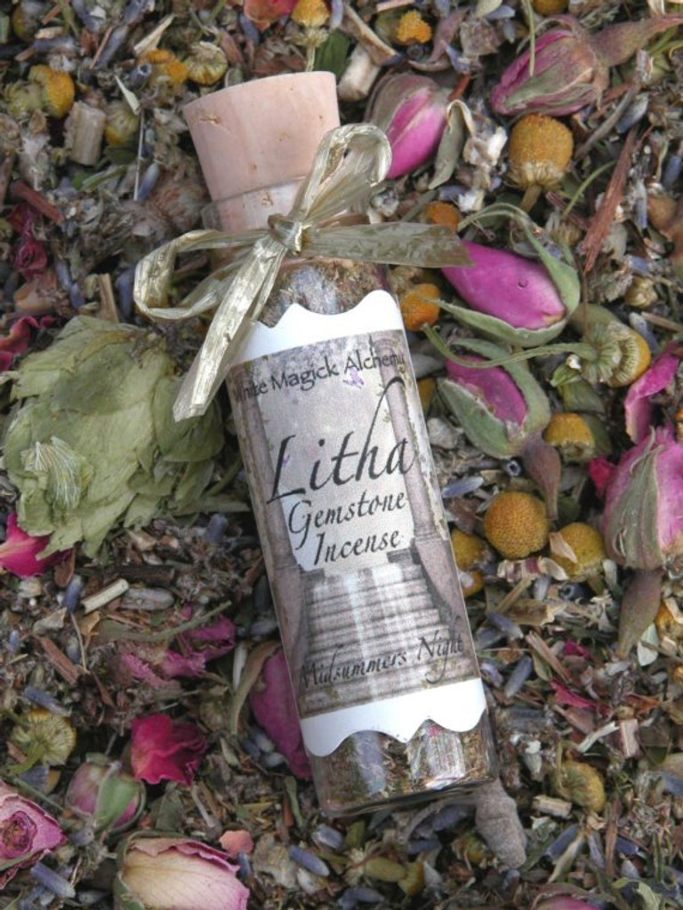 Litha Midsummers Night . Magickal Crystal Gemstone Incense . For Summer Solstice, Midsummer Celebrations, Ritual and Faerie Offerings