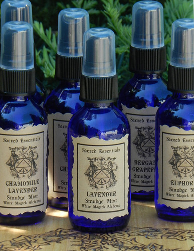 Lavender . Sacred Essentials Smudge Mist Spray 1oz . Purification of Sacred Space, Love, Calming, Insomnia, Stress, Peace