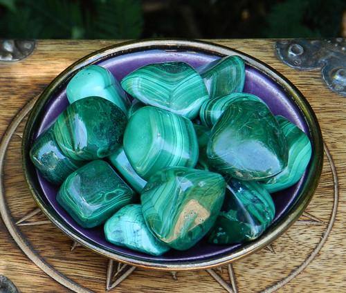 Malachite Tumbled Gemstone HUGE Jumbo . Crystal Gemstone Healing, Wisdom, Power, Strength, Blockages, New Beginnings