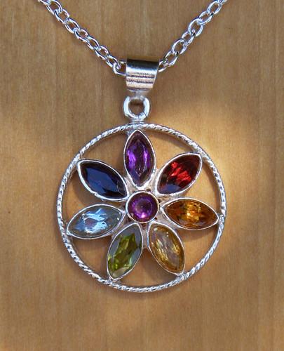 Lotus Chakra Sterling Silver Pendant