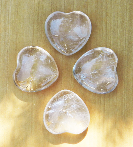 Crystal Quartz Heart . Ultimate Power Stone