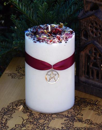 White Magick . Alchemy Candle 2x3 . Transcendental White Magic, Goddess, White Light